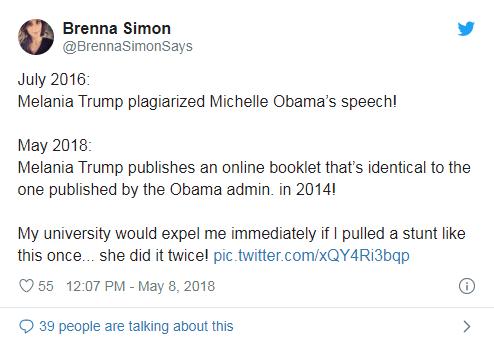 Melania Trump plagiarism