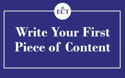 Write Your First Piece of Content